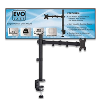 Picture of Evo Labs Single Monitor Arm Desk Mount