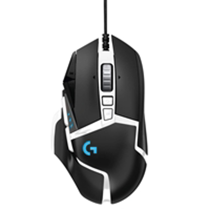 Picture of Logitech G G502 Special Edition Hero USB RGB LED Black & White Programmable Gaming Mouse