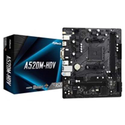 Picture of ASRock A520M-HDV AMD Socket AM4 Micro ATX HDMI/VGA/DVI M.2 USB 3.2 Gen1 Motherboard