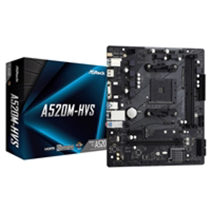 Picture of ASRock A520M-HVS AMD Socket AM4 Micro ATX VGA/HDMI M.2 USB 3.2 Gen1 Motherboard