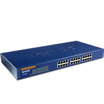 "Picture of Tenda TEG1024G 24 Port 10/100/1000 Unmanaged 19"" Rackmountable Gigabit Switch"