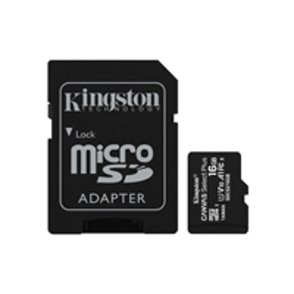 Picture of Kingston Canvas Select Plus 16GB Micro SD UHS-I Flash Card with Adapter