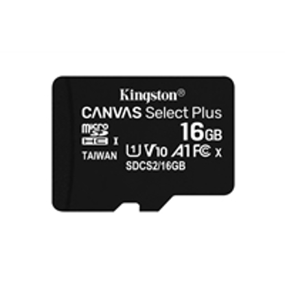Picture of Kingston Canvas Select Plus 16GB Micro SD UHS-I Flash Card No Adapter