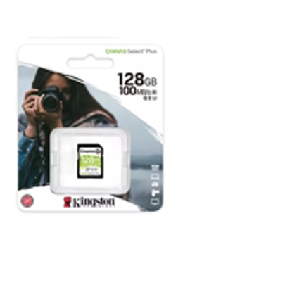 Picture of Kingston Canvas Select Plus  V30 128GB SD Class 10 UHS-I U3 Flash Card