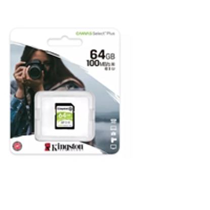 Picture of Kingston Canvas Select Plus  V30 64GB SD Class 10 UHS-I U3 Flash Card
