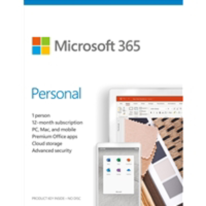 Picture of Microsoft 365 Personal 2020 English EuroZone Subscription 1 Year Medialess