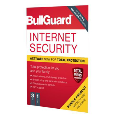 Picture of Bullguard Internet Security 2020 Soft Box - Single 3 User Licence - 1 Year - Windows Only