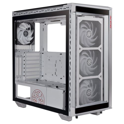 Picture of ADATA XPG Battlecruiser Super RGB Gaming Case with 4x Tempered Glass Sides, E-ATX, 4 x ARGB Fans & Controller, White