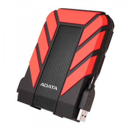 "Picture of ADATA 1TB HD710 Pro Rugged External Hard Drive, 2.5"", USB 3.1, IP68 Water/Dust Proof, Shock Proof, Red"