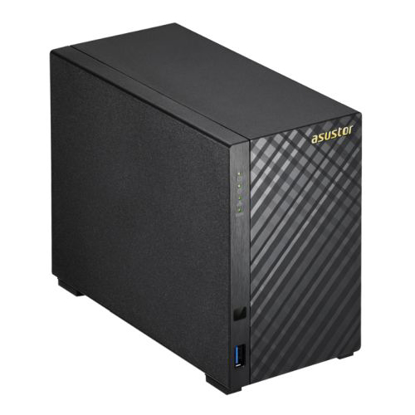 Picture of ASUSTOR AS3102T V2 2-Bay NAS Enclosure (No Drives), Dual Core CPU, 2GB DDR3L, HDMI, USB3, Dual GB LAN, Diamond-Plate Finish