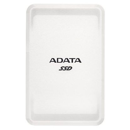 Picture of ADATA SC685 250GB External SSD, USB-C (USB-A Adapter), 3D NAND, Windows/Mac/Android Compatible, White