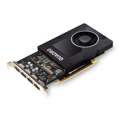 Picture of PNY Quadro P2200 Professional Graphics Card, 5GB DDR5X, 1280 Cores, 200GB/s, 3.8 TFLOPs, 4 DP 1.4, Single Slot