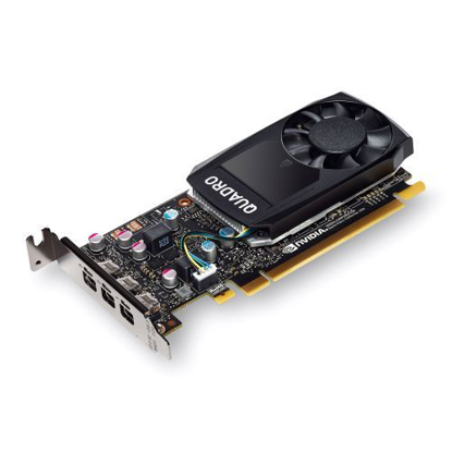 Picture of PNY Quadro P400 Professional Graphics Card, 2GB DDR5, 3 miniDP 1.4 (1 x DVI & 3 x DP adapters), Low Profile (Bracket Included)
