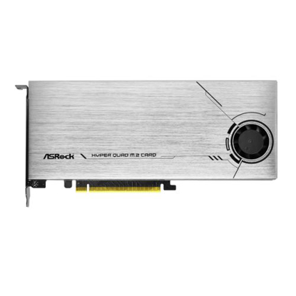 Picture of Asrock Hyper Quad M.2 Card, 4x Hyper M.2 NVMe, PCIe 4.0 x16, 64Gb/s, Intel VROC