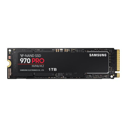 Picture of Samsung 1TB 970 PRO M.2 NVMe SSD, M.2 2280, PCIe, V-NAND, R/W 3500/2700 MB/s