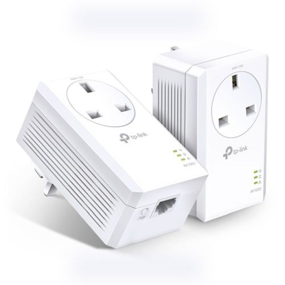 Picture of TP-LINK (TL-PA7010P KIT) AV1000 GB Powerline Adapter Kit, 1-Port, AC Pass Through