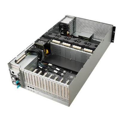 Picture of Asus (ESC8000 G4/10G) 4U High-Density GPU Barebone Server, Intel C621, Dual Socket 3647, Supports 8 GPUs, Dual 10G LAN, 8 Bay Hot-Swap, 2+1 1600W Platinum PSU