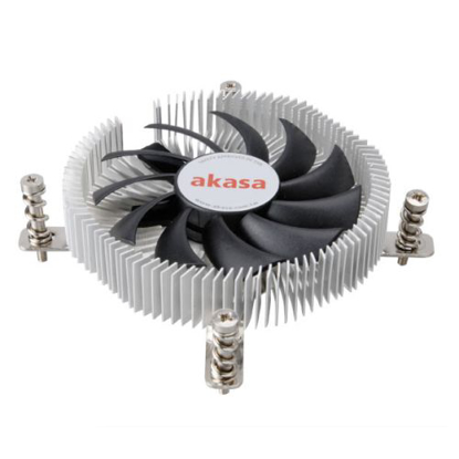 Picture of Akasa AK- AK-CC7129BP01 Ultra Compact Heatsink and Fan, 775, 115X, PWM Fan, 21mm High