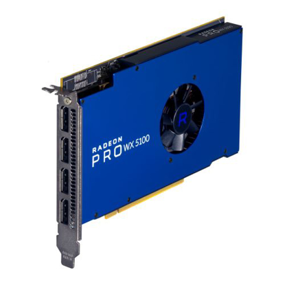 Picture of AMD Radeon Pro WX 5100 Professional Graphics Card, 8GB DDR5, 4 DP 1.4 (2 x DVI adapters), 1086MHz Clock, CrossFire