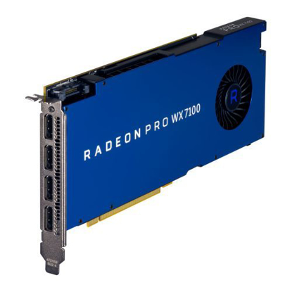 Picture of AMD Radeon Pro WX 7100 Professional Graphics Card, 8GB DDR5, 4 DP 1.4, 1080MHz, CrossFire
