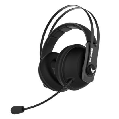 Picture of Asus Gaming H7 Wireless Gaming Headset, 53mm Drivers, 15+ Hour Battery Life, Pressure-reducing Cushion, Touch Controls, Gun Metal