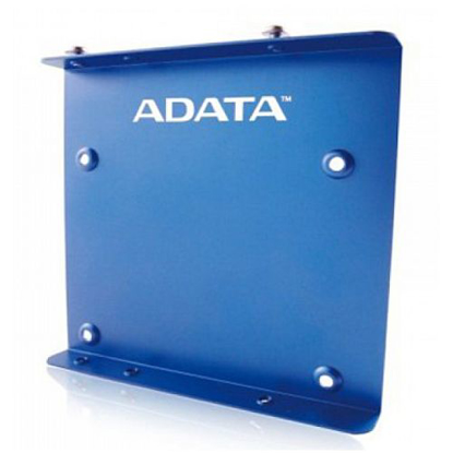 "Picture of Adata SSD Mounting Kit, Frame to Fit 2.5"" SSD or HDD into a 3.5"" Drive Bay, Blue Metal"