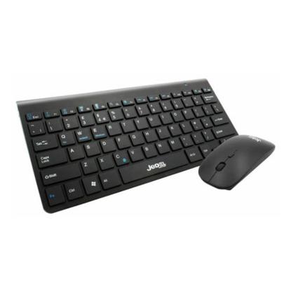 Picture of Jedel WS620 Bluetooth Desktop Kit, Slim Mini Keyboard, 800-1600 DPI Mouse, Black
