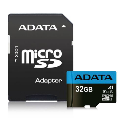 Picture of ADATA 32GB Premier Micro SD Card with SD Adapter, UHS-I Class 10 with A1 App Performance