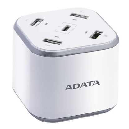 Picture of ADATA USB Charging Station - 3 x USB-A, 1 x USB-C, 1 x Qualcomm Quick Charge USB-A