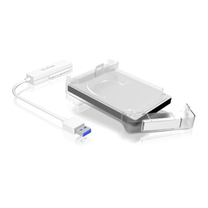 "Picture of Icy Box (IB-AC703-U3) USB 3.0 to 2.5"""" SATA Adapter Cable with HDD Protection Box"