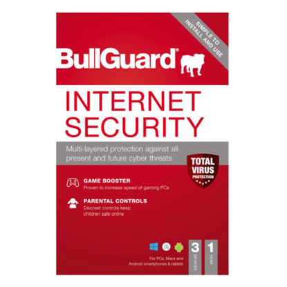 Picture of Bullguard Internet Security 2021 Retail Box - Single 3 User Licence - 1 Year - PC, Mac & Android