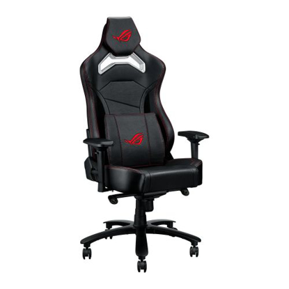 Picture of Asus ROG Chariot Core Gaming Chair, Racing-Car Style, Steel Frame, PU Leather, Memory-Foam Lumbar, 4D Armrests, 145° Recline,  Tilt & Class 4 Gas Lift