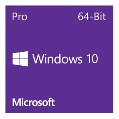 Picture of Microsoft Windows 10 Professional 64-bit, OEM DVD, Single Copy