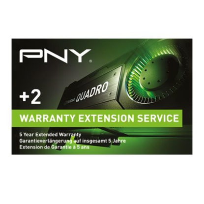 Picture of PNY Warranty Extension with Advanced Replacement - from 3 Years to 5 Years -  for P400, P620 & P1000 Graphics Cards - Upgrade details via email