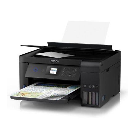 Picture of Epson ET-2750 EcoTank 3-in-1 Wireless/USB Inkjet Printer, Print/Scan/Copy, LCD Screen, Auto Double-Sided Printing, Ultra-Low-Cost Printing
