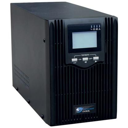 Picture of Powercool 2000VA Smart UPS, 1600W, LCD Display, 2 x UK Plug, 2 x RJ45, 3 x IEC, USB