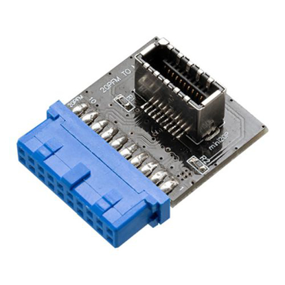 Picture of Akasa 20-pin USB 3.1 Internal Connector, Convert a USB 3.0 19-pin Motherboard Header into a USB 3.1 20-pin Key A Connector